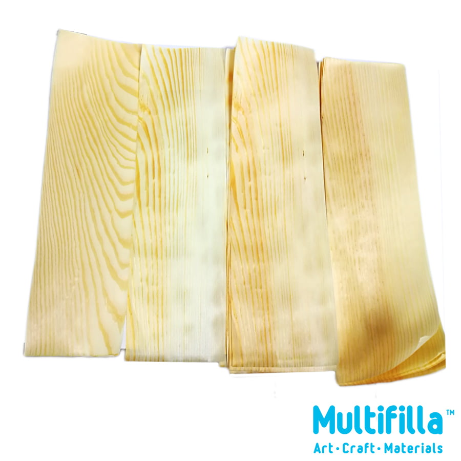 Natural wood veneer paper thin 10pcs multifilla for Thin wood sheets for crafts