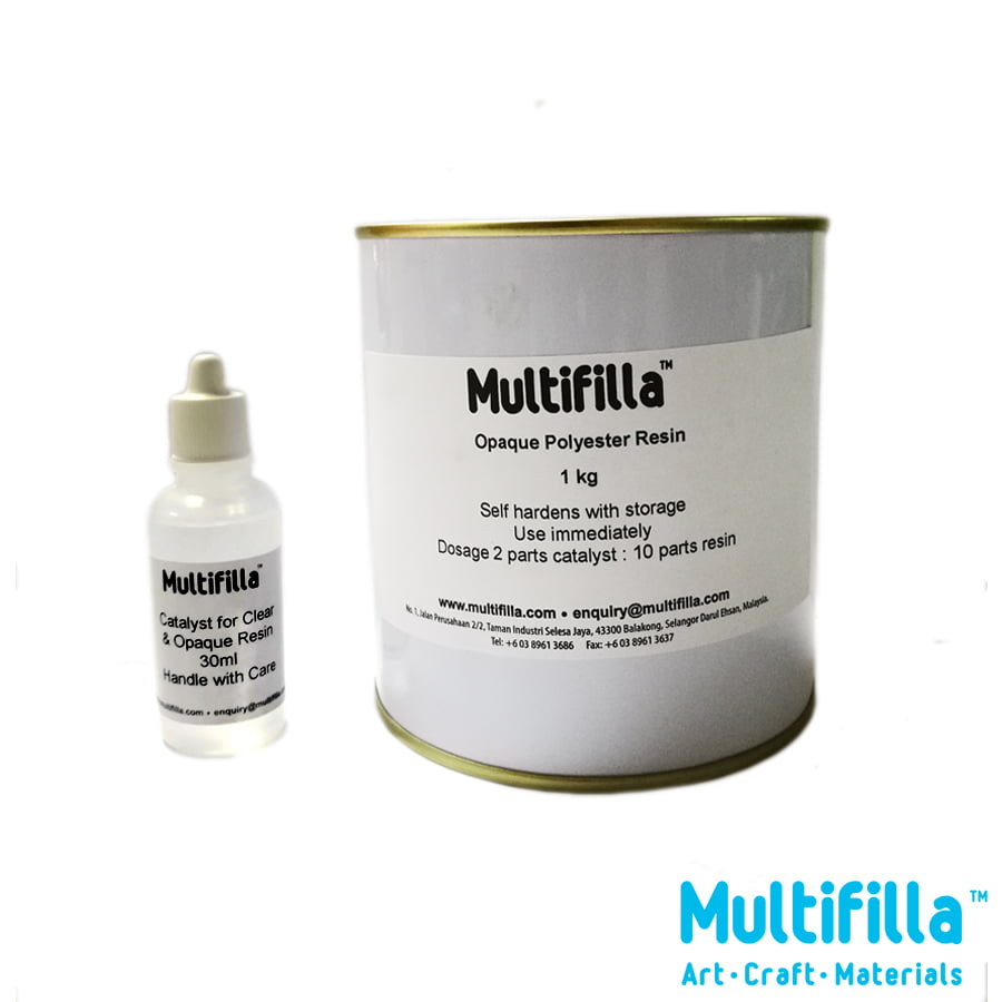 Opaque Polyester Resin 1kg + Catalyst 30ml